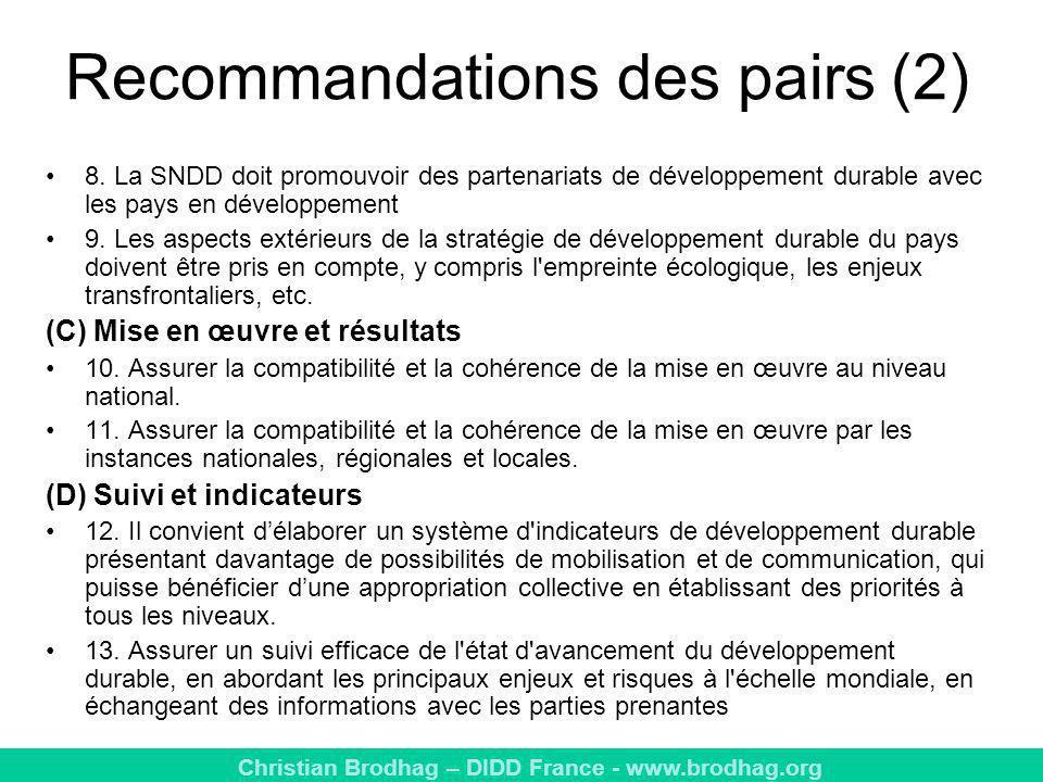 Recommandations des pairs (2)