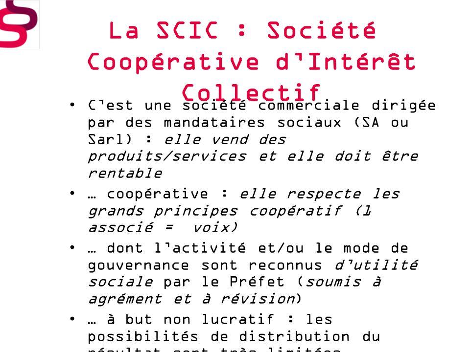La SCIC : Société Coopérative d'Intérêt Collectif