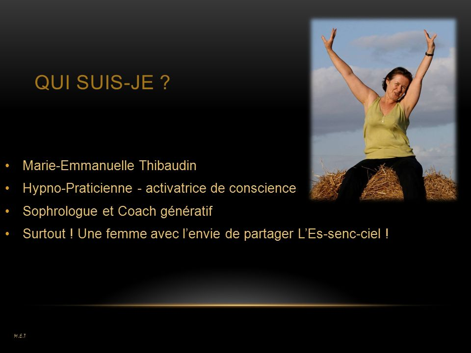 QUI SUIS-JE Marie-Emmanuelle Thibaudin