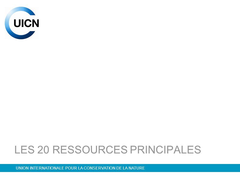 LES 20 RESSOURCES PRINCIPALES