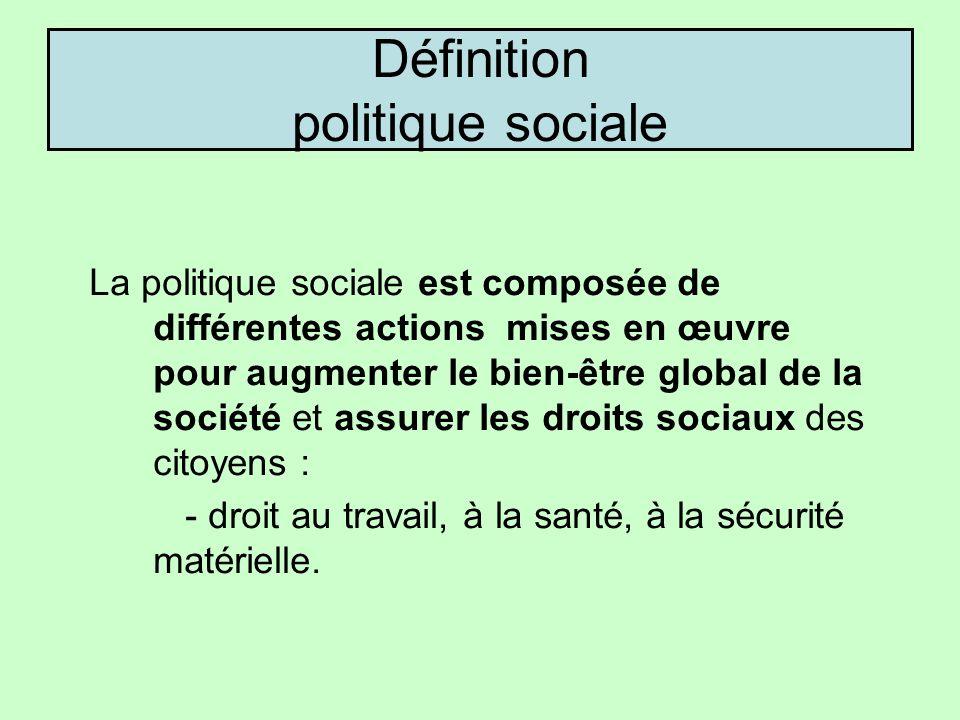 Définition politique sociale