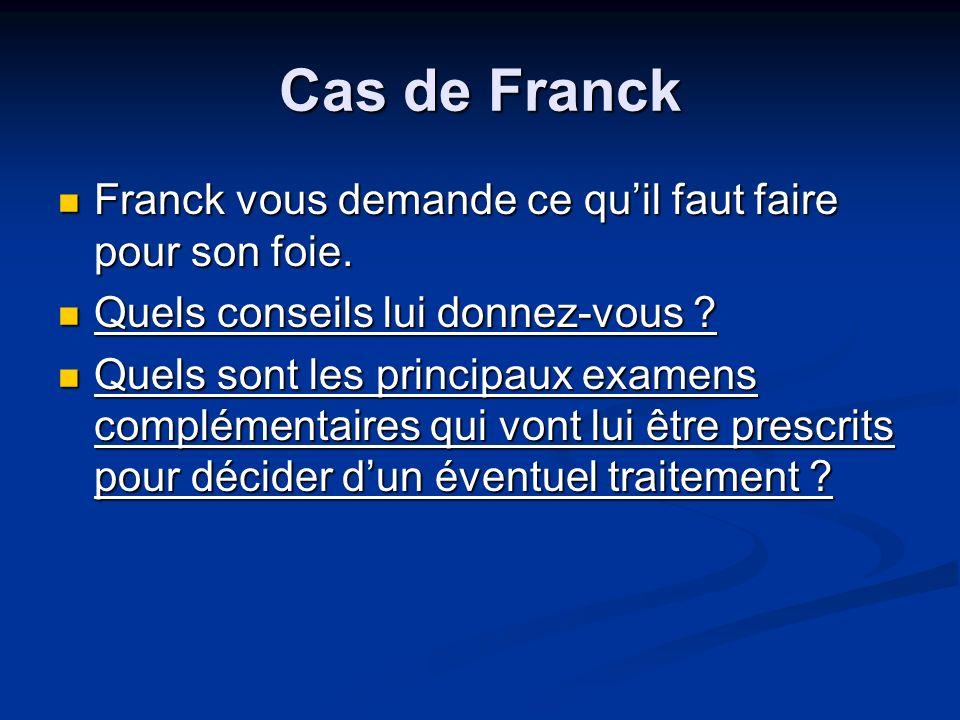 Cas de Franck Franck vous demande ce qu'il faut faire pour son foie.