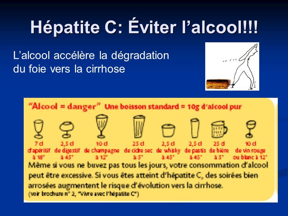 Hépatite C: Éviter l'alcool!!!