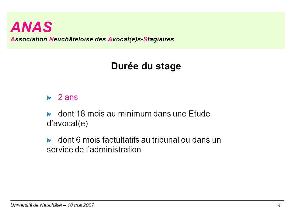 ANAS Association Neuchâteloise des Avocat(e)s-Stagiaires