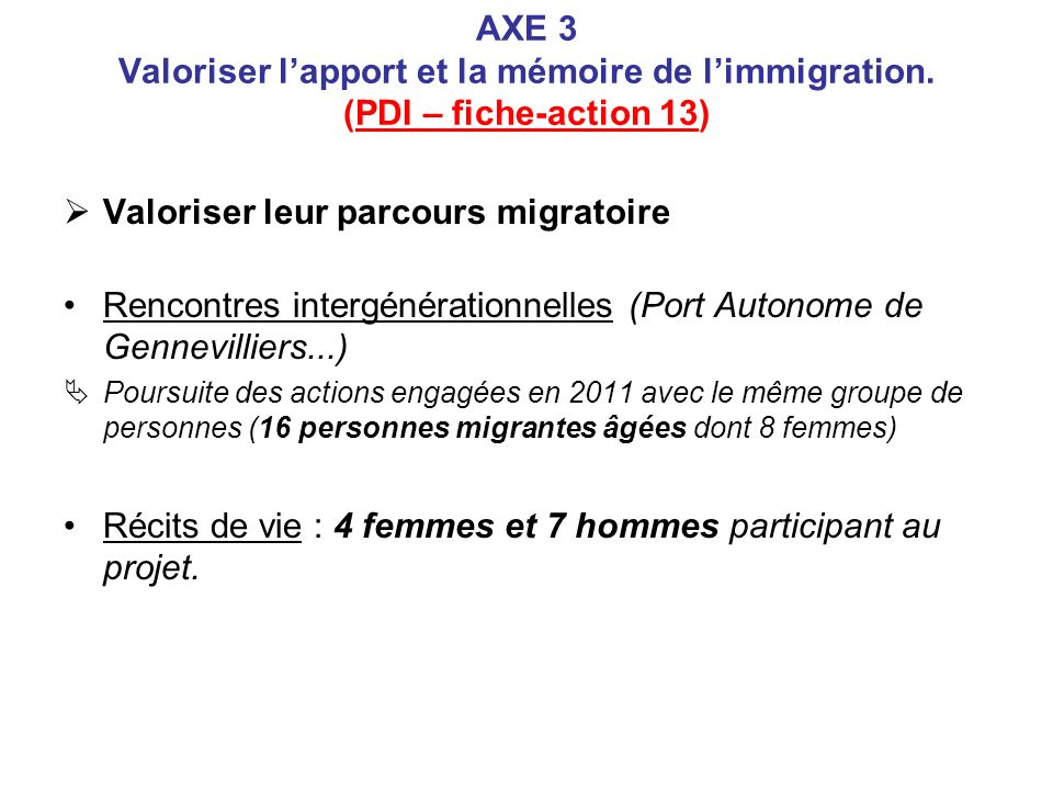 Valoriser leur parcours migratoire