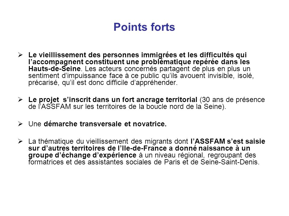 Points forts