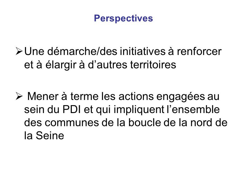 Perspectives Une démarche/des initiatives à renforcer et à élargir à d'autres territoires.