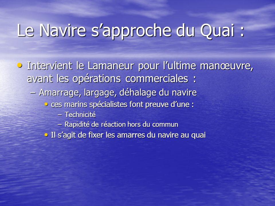 Le Navire s'approche du Quai :