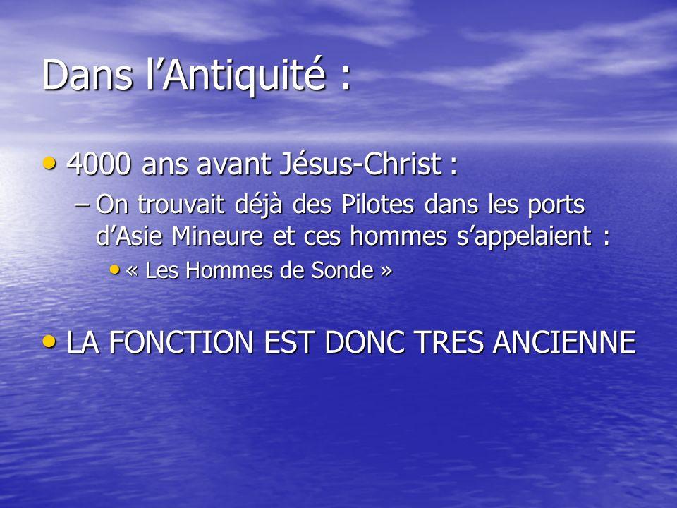 Dans l'Antiquité : 4000 ans avant Jésus-Christ :