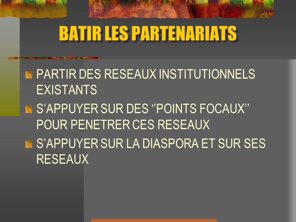 BATIR LES PARTENARIATS