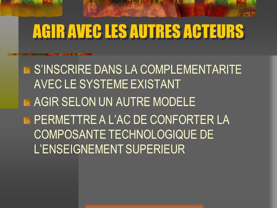 AGIR AVEC LES AUTRES ACTEURS