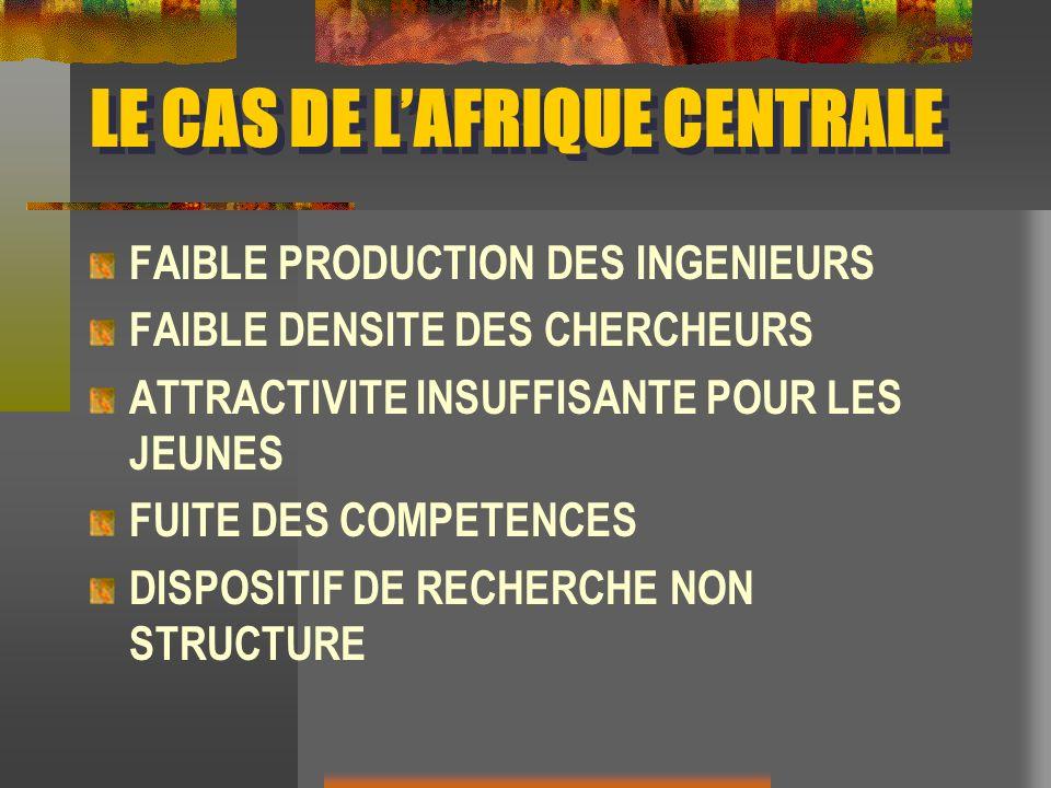 LE CAS DE L'AFRIQUE CENTRALE
