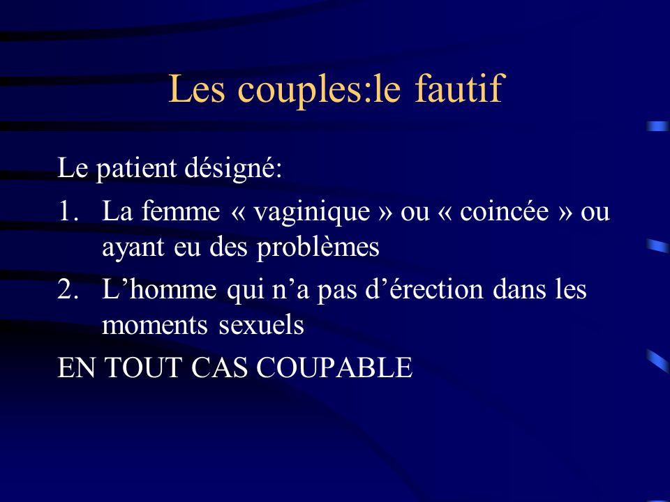 Les couples:le fautif Le patient désigné: