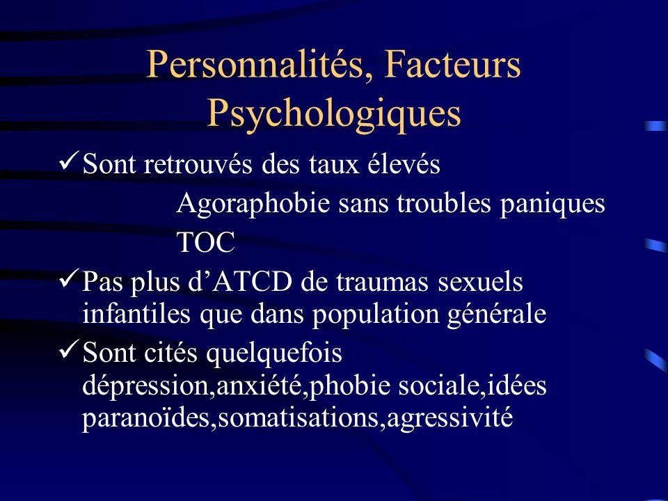 Personnalités, Facteurs Psychologiques
