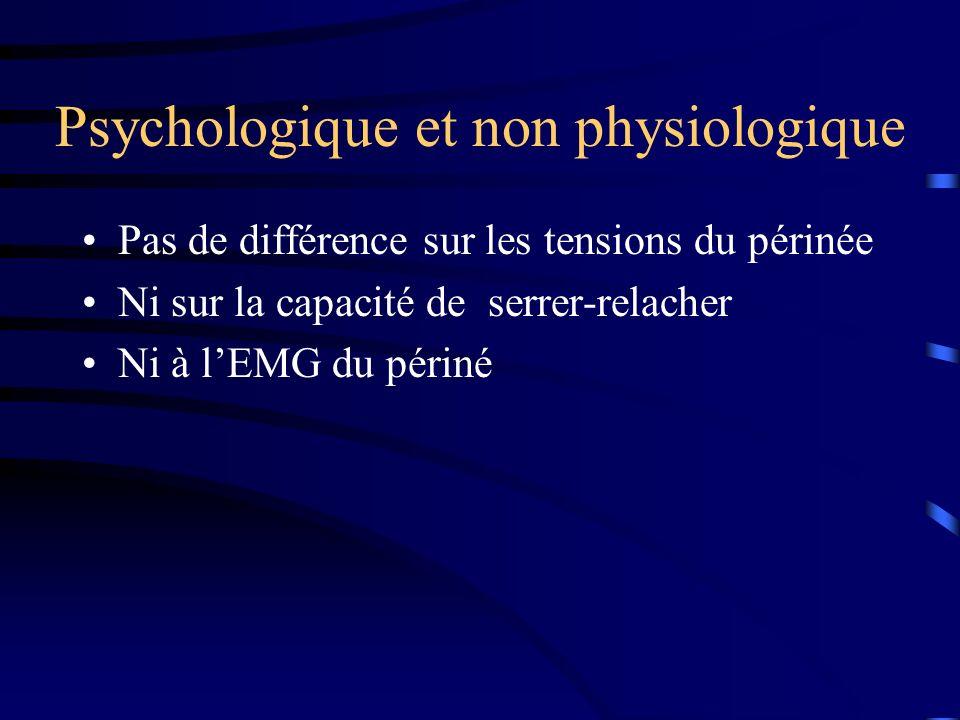 Psychologique et non physiologique