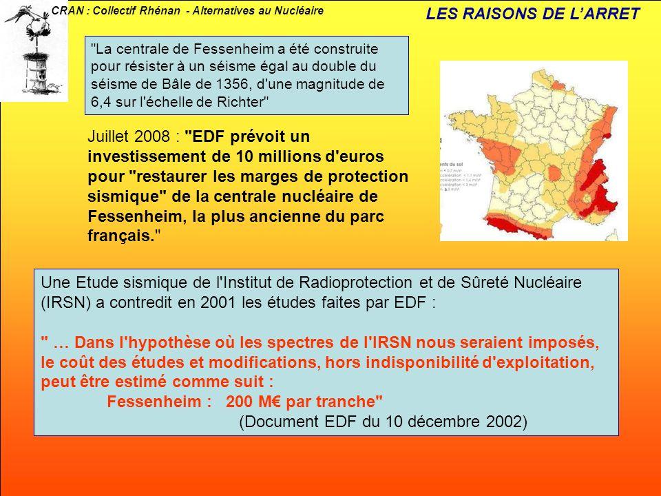 Fessenheim : 200 M€ par tranche (Document EDF du 10 décembre 2002)