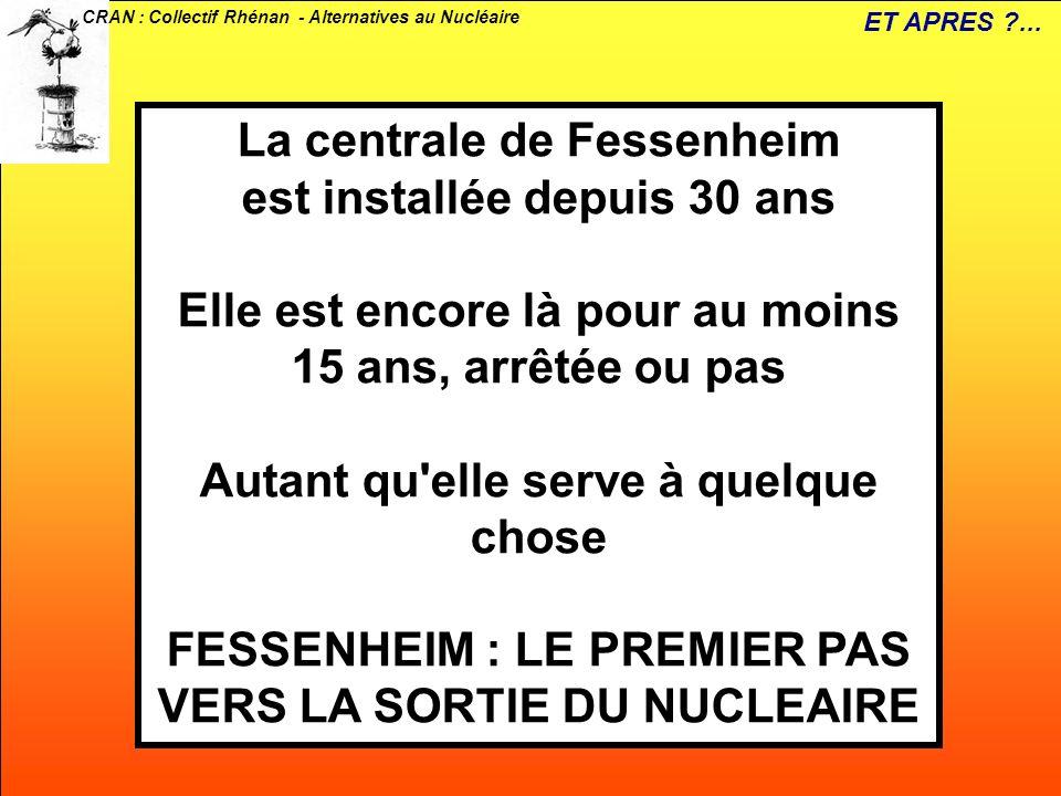 La centrale de Fessenheim est installée depuis 30 ans