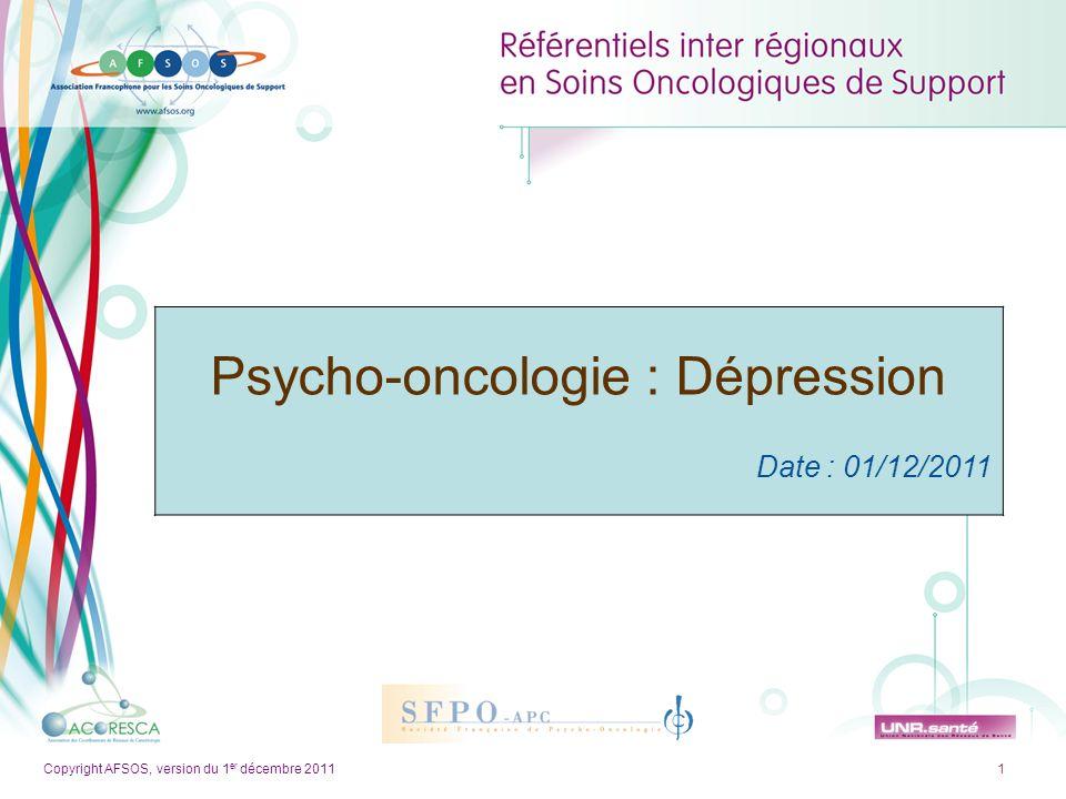 Psycho-oncologie : Dépression