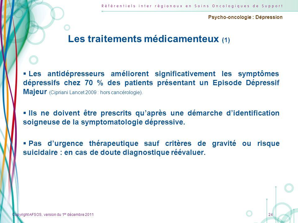 Les traitements médicamenteux (1)