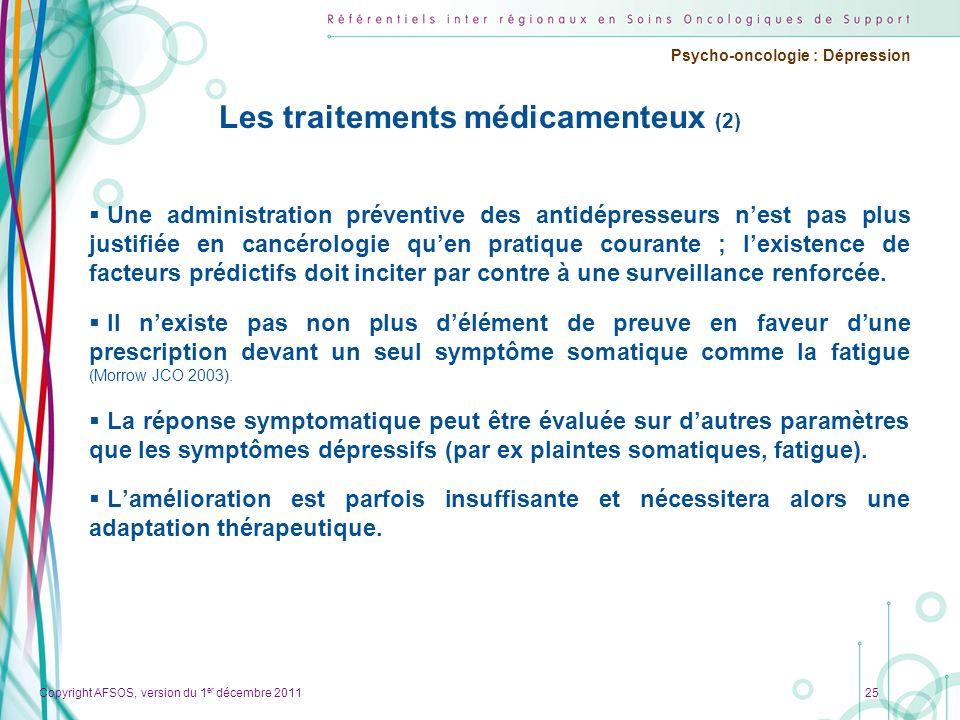 Les traitements médicamenteux (2)