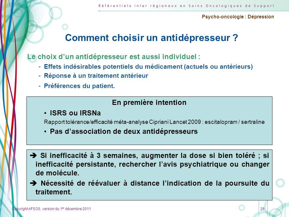 Comment choisir un antidépresseur