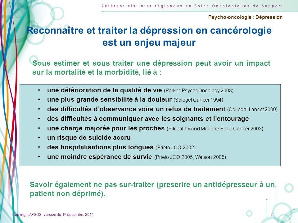 Reconnaître et traiter la dépression en cancérologie est un enjeu majeur