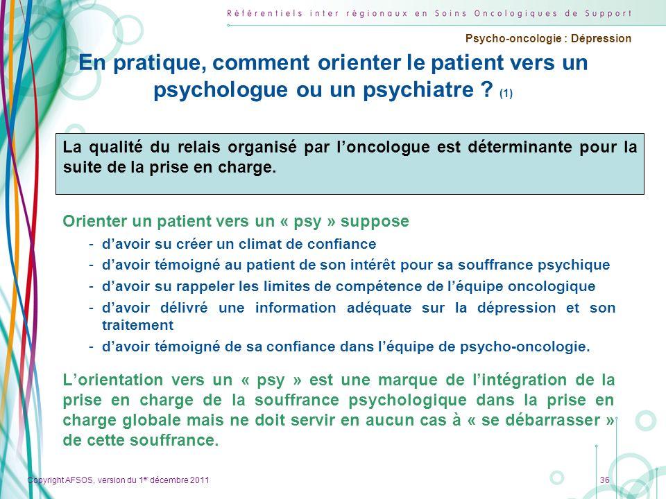 En pratique, comment orienter le patient vers un psychologue ou un psychiatre (1)