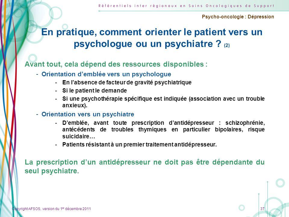 En pratique, comment orienter le patient vers un psychologue ou un psychiatre (2)