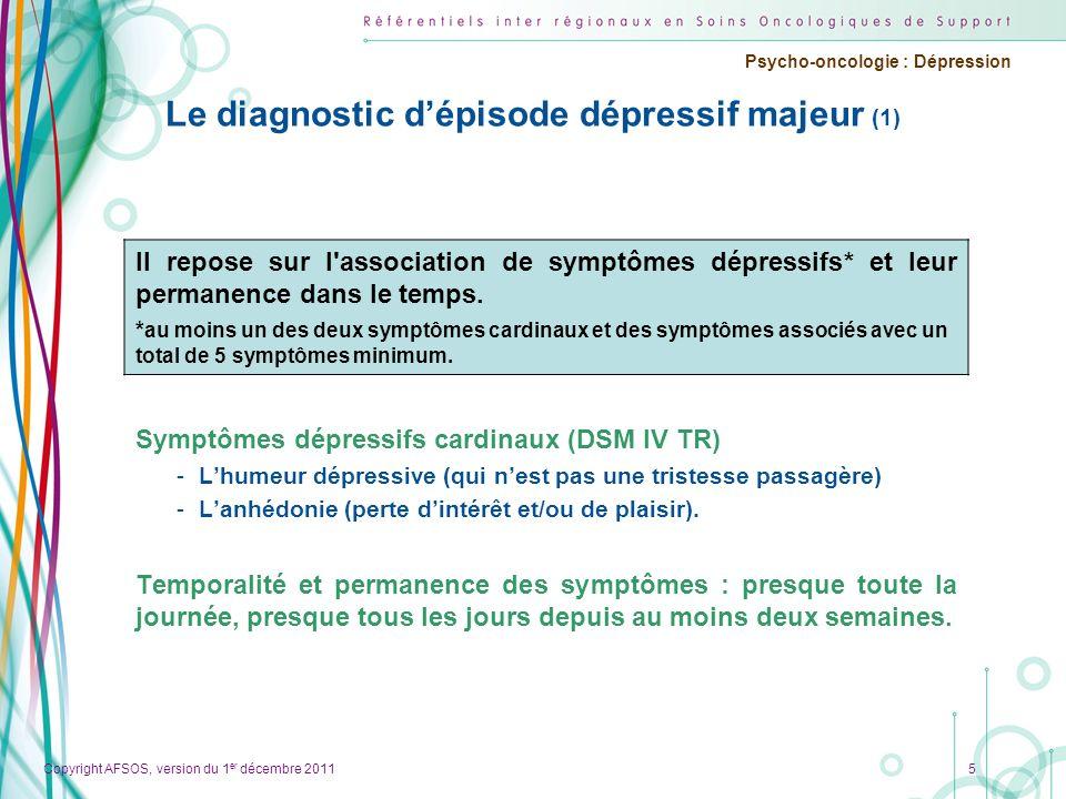 Le diagnostic d'épisode dépressif majeur (1)