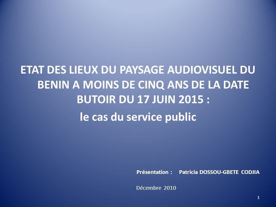 le cas du service public