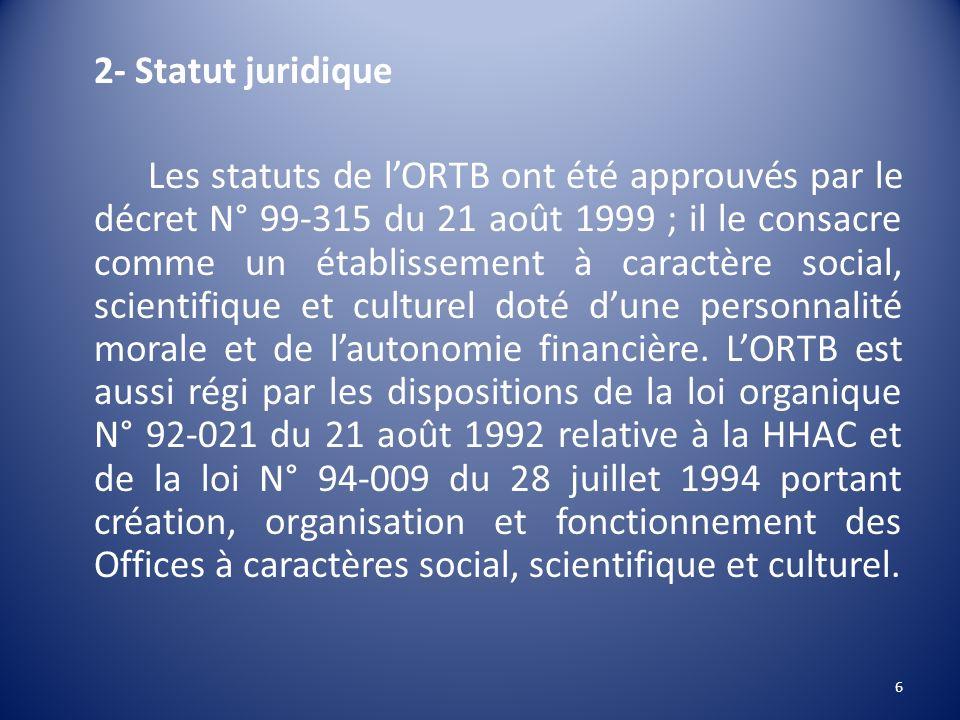 2- Statut juridique