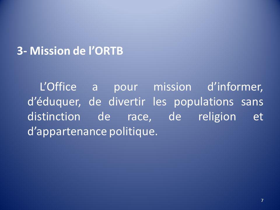 3- Mission de l'ORTB