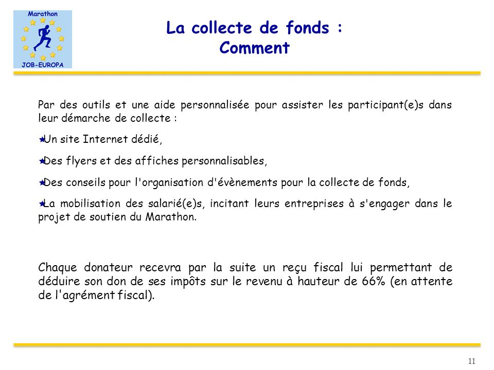 La collecte de fonds : Comment