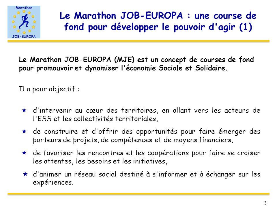 Le Marathon JOB-EUROPA : une course de fond pour développer le pouvoir d agir (1)