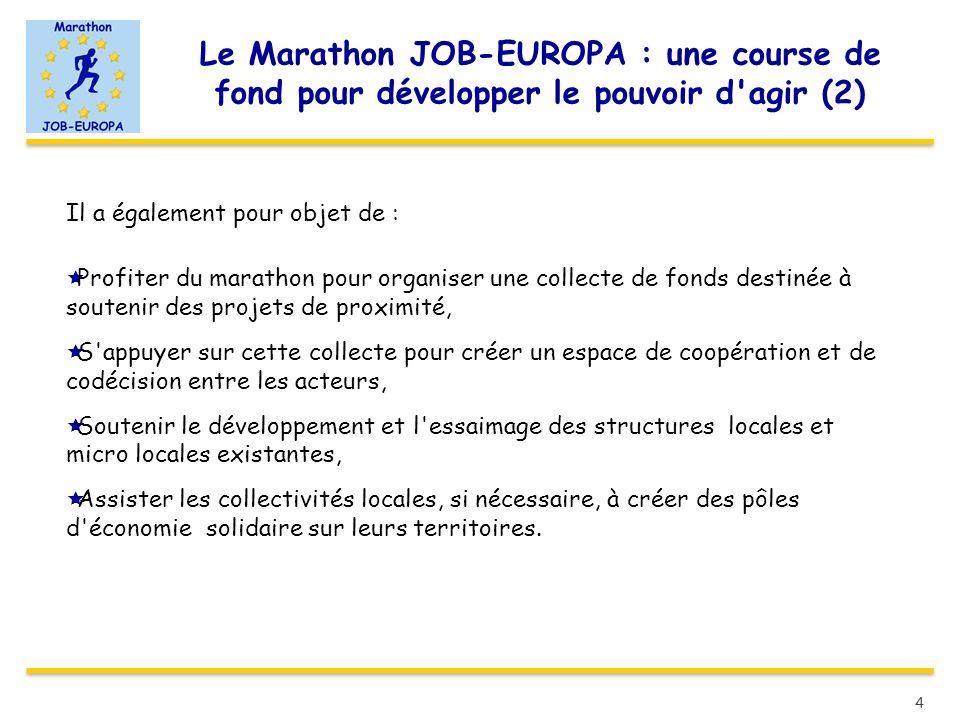 Le Marathon JOB-EUROPA : une course de fond pour développer le pouvoir d agir (2)