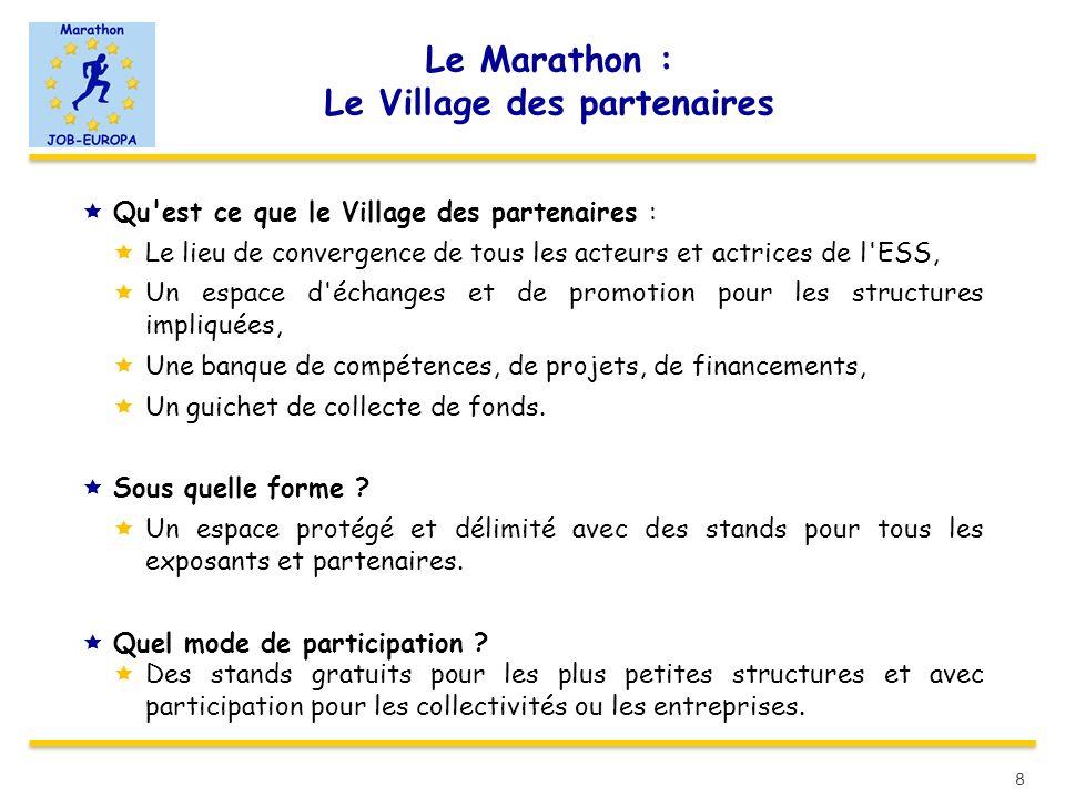 Le Marathon : Le Village des partenaires