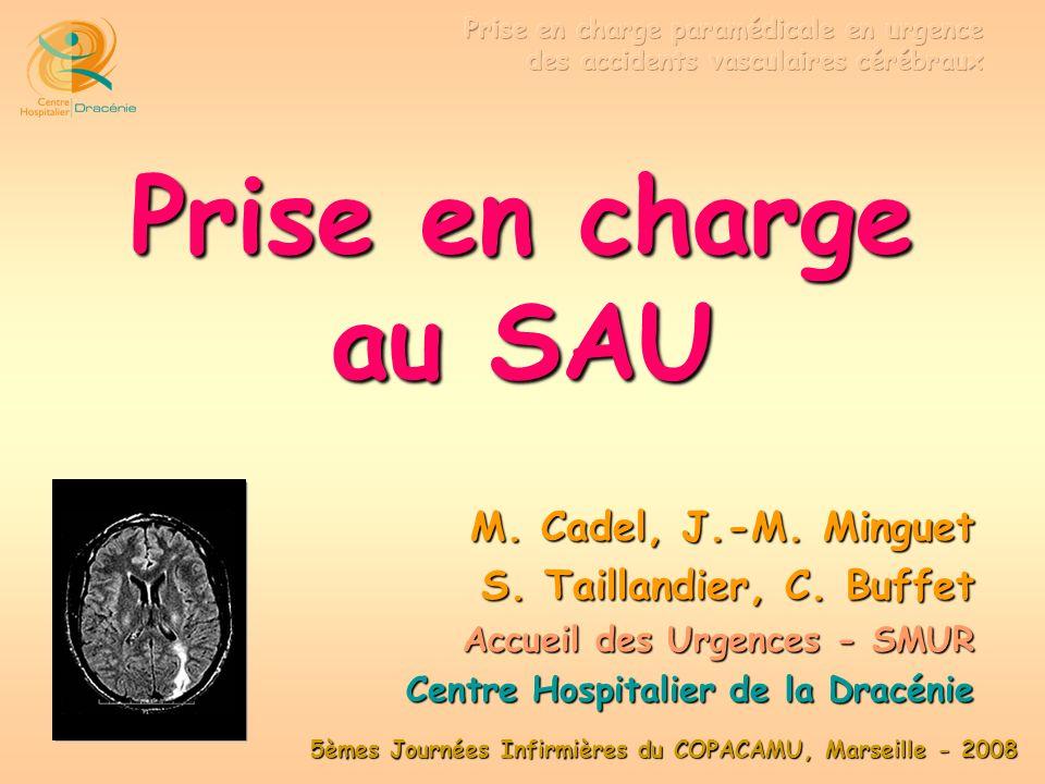 Prise en charge au SAU M. Cadel, J.-M. Minguet