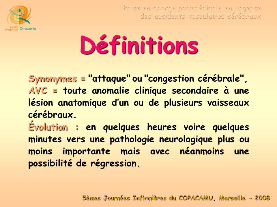 Définitions Synonymes = attaque ou congestion cérébrale ,