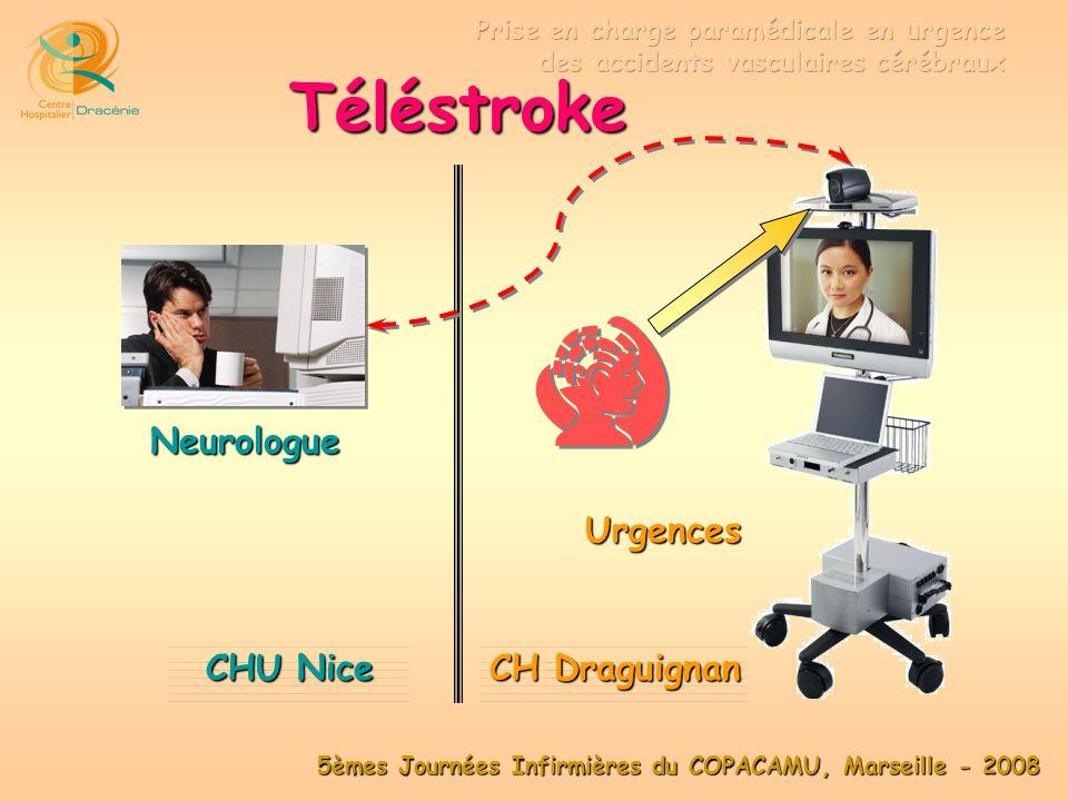 Téléstroke Neurologue Urgences CHU Nice Ville A CH Draguignan