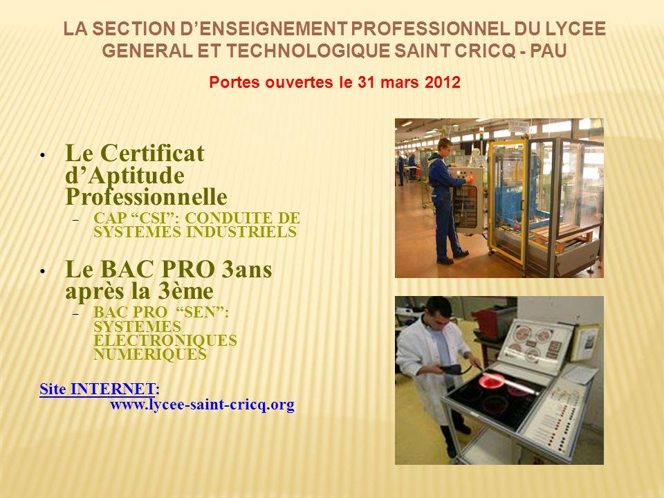 Portes ouvertes le 31 mars 2012