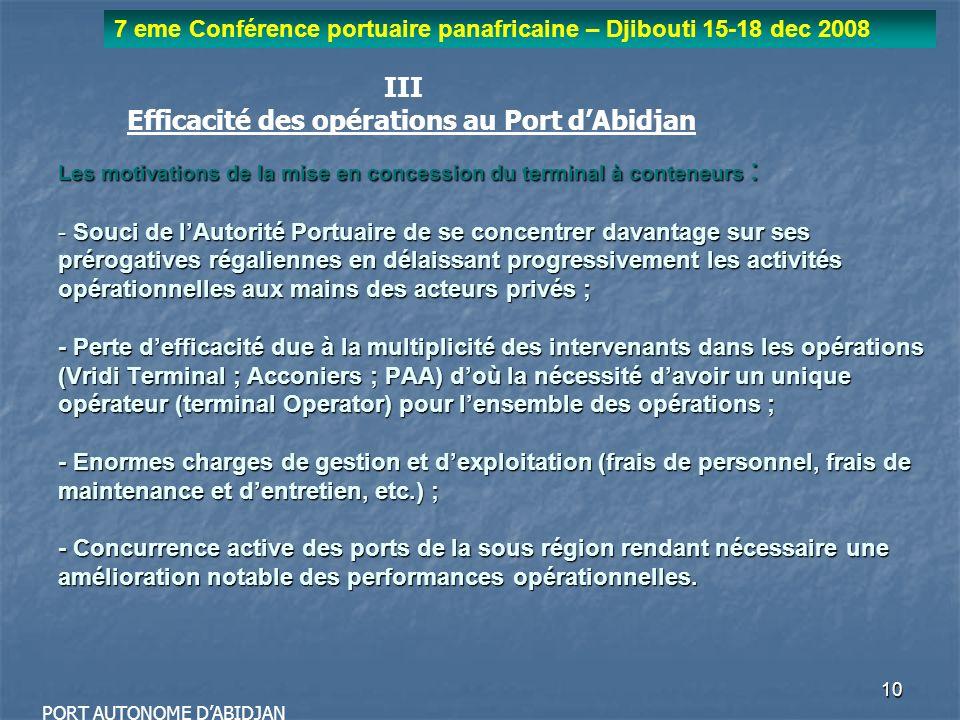 Efficacité des opérations au Port d'Abidjan