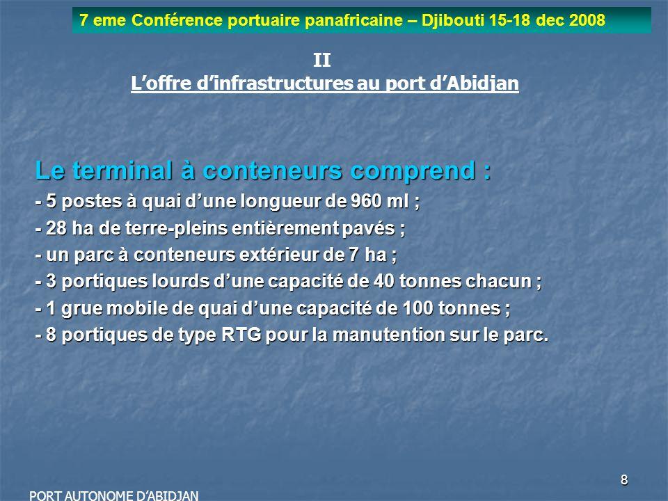 L'offre d'infrastructures au port d'Abidjan
