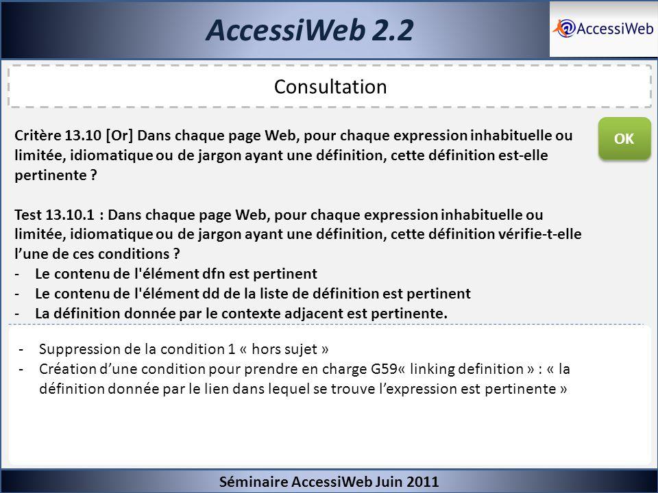 AccessiWeb 2.2 Consultation