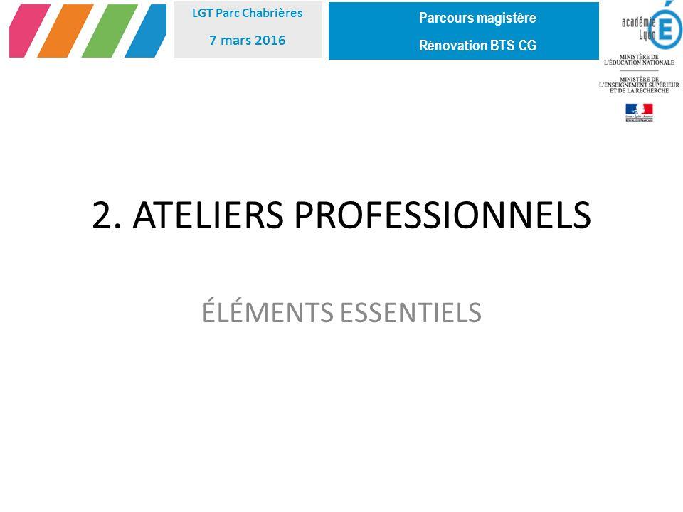 2. ATELIERS PROFESSIONNELS