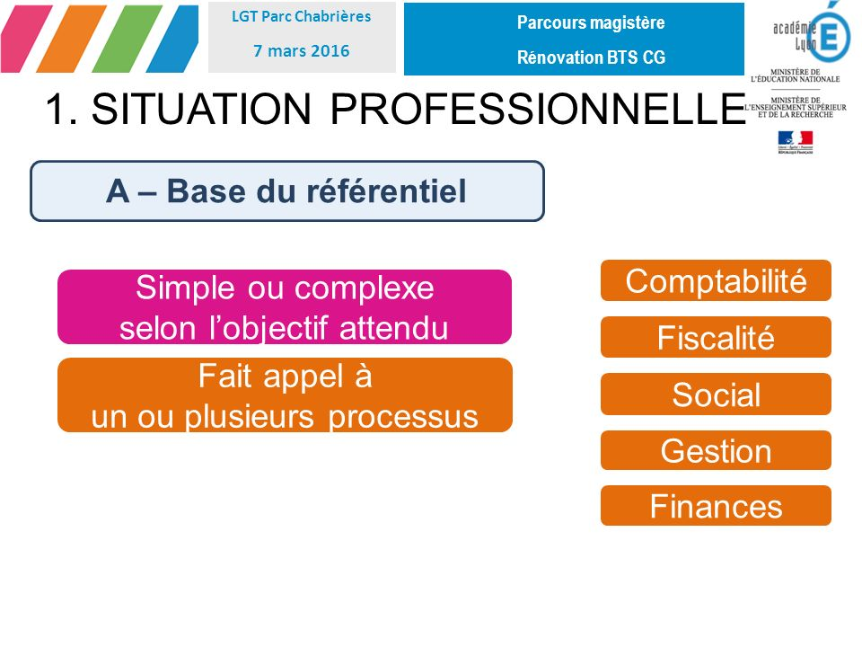 1. SITUATION PROFESSIONNELLE
