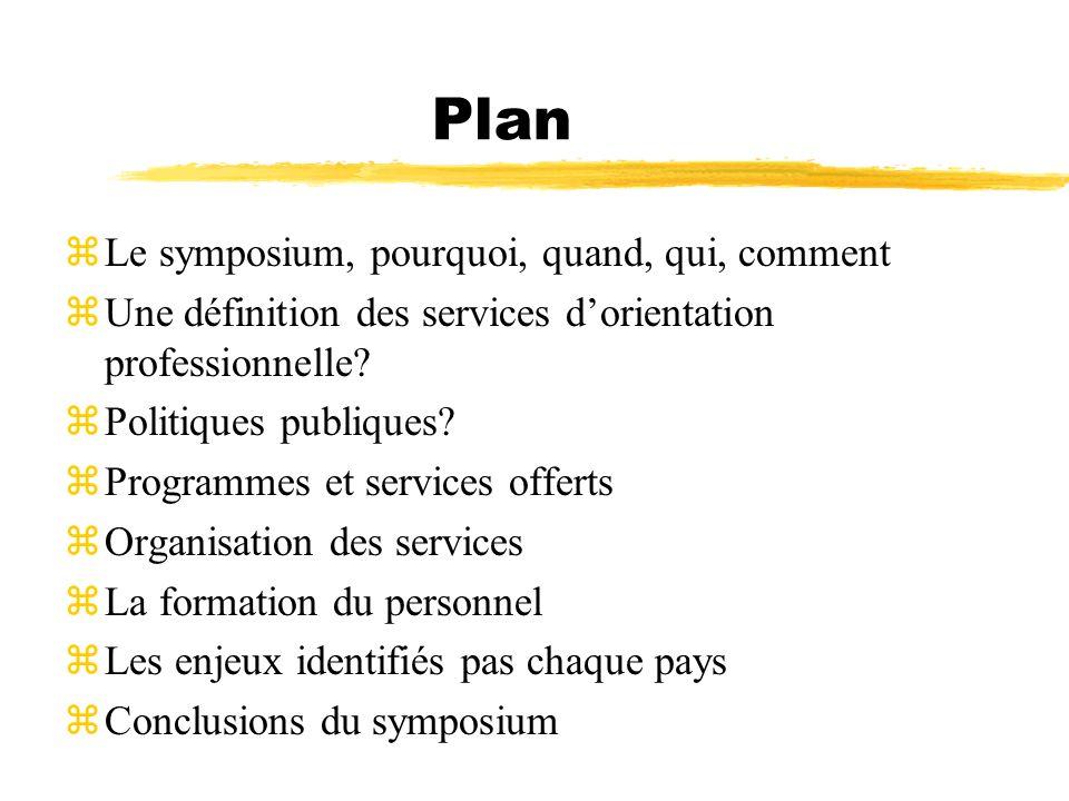 Plan Le symposium, pourquoi, quand, qui, comment