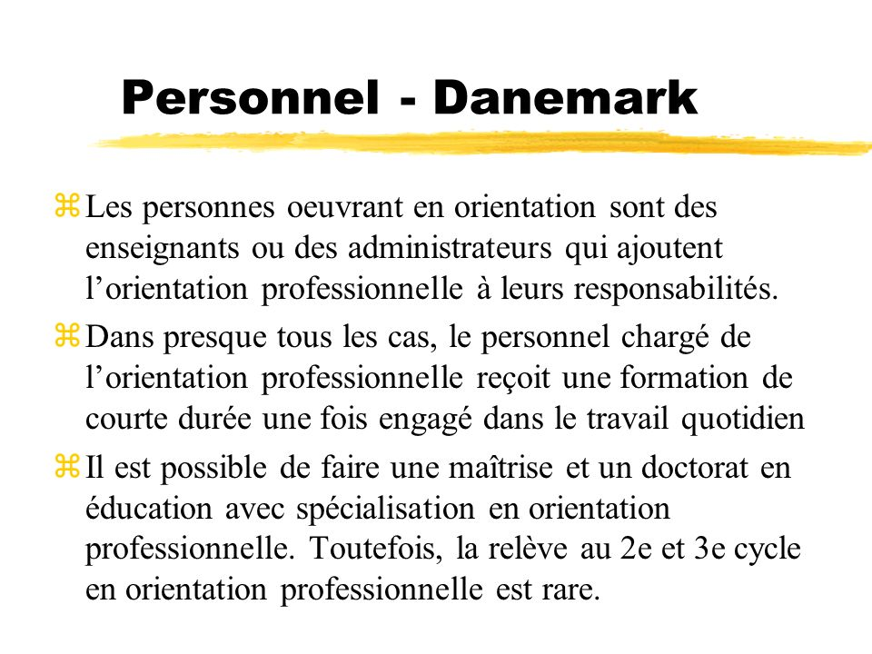 Personnel - Danemark