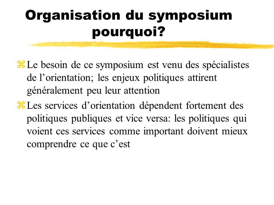 Organisation du symposium pourquoi