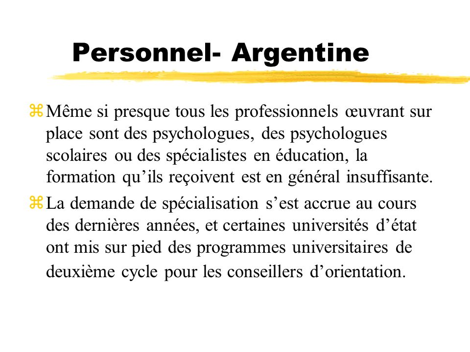 Personnel- Argentine