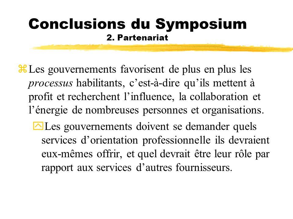 Conclusions du Symposium 2. Partenariat